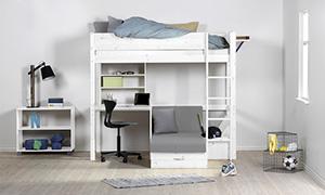 hoogslaper met bureau